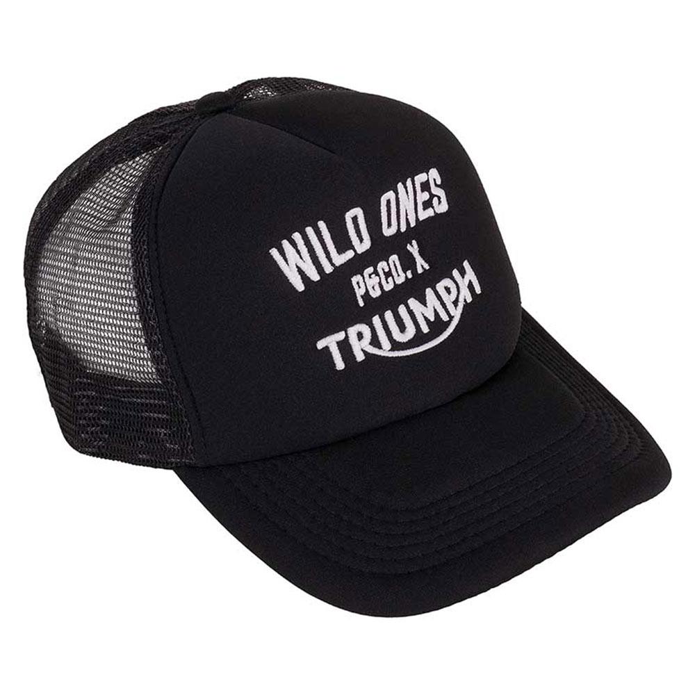Triumph Motorcycles Wild Ones P Co Black Mesh Trucker Hat MCAS17389 56d088d030f