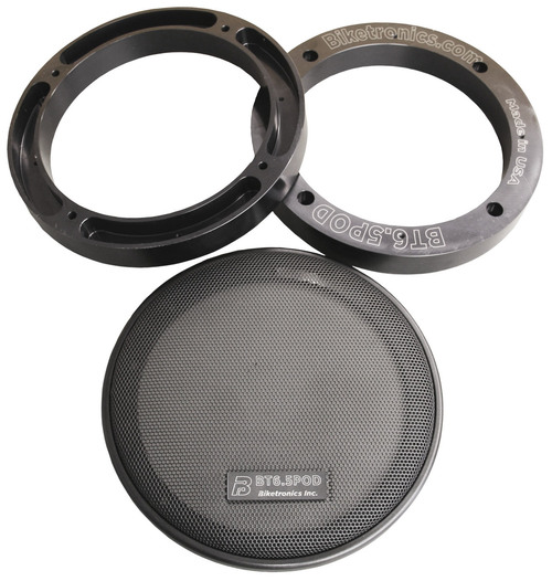 "Biketronics Rushmore TourPak Pod 6.5"" Speaker Extension Rings"