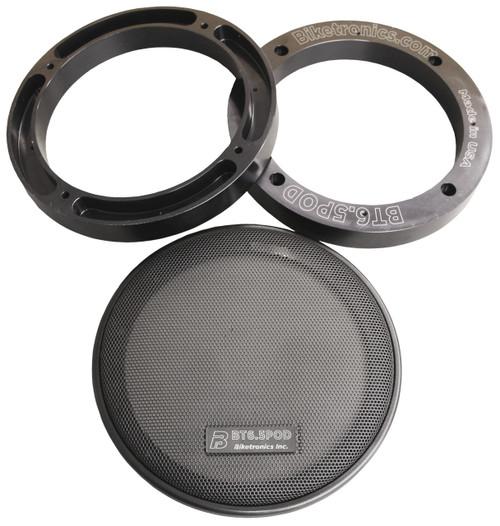 "Biketronics Rushmore TourPak Pod 6.5"" Speaker Extension Rings"