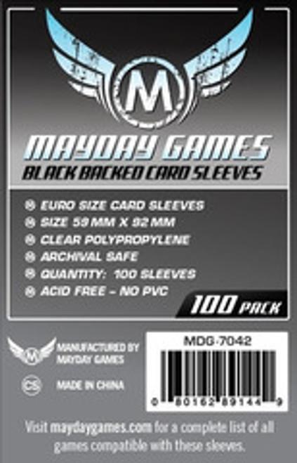Mayday Games Black Euro Sized Card Sleeves #7042