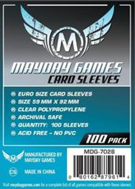 Mayday Games Euro Game Card Sleeves 100ct #7028