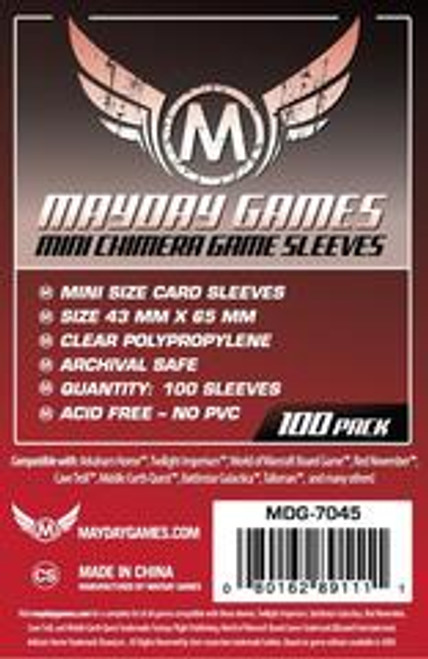 Mayday Games Mini Chimera Red Game Sleeves 100ct #7045
