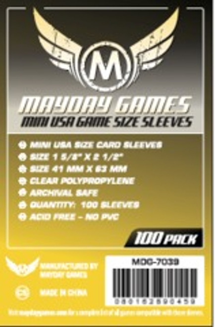 Mayday Games Mini USA Game Size Sleeves 100ct #7039