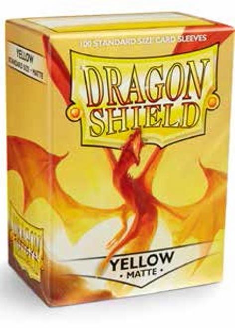 Dragon Shield Box of 100 in Matte Yellow