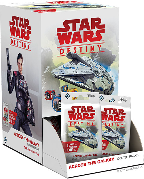 Star Wars Destiny: Across the Galaxy  Booster Pack Display