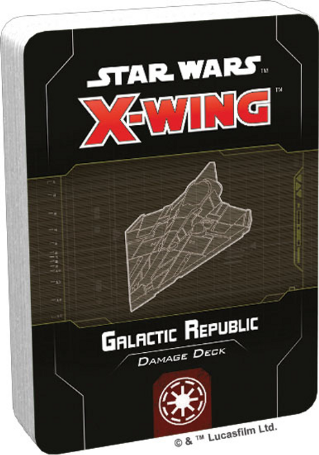 Star Wars X-Wing: 2nd Edition - Galactic Republic Damage Deck