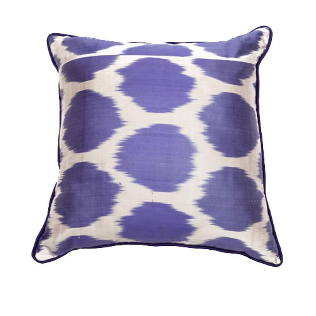 Ikat Pillow Lavender Dots