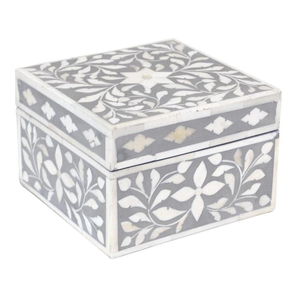 Jewelry Box Indian Grey