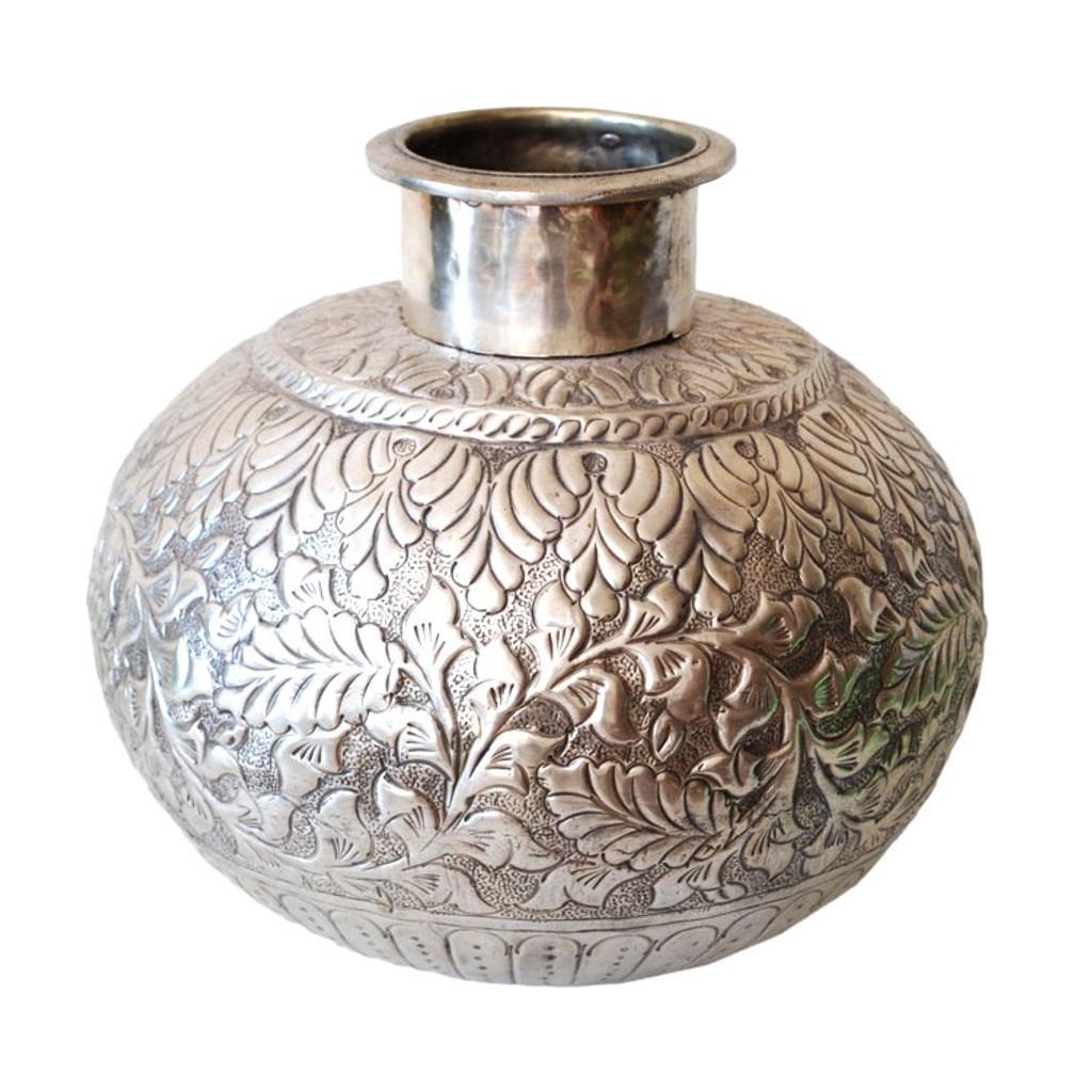 Moroccan Silver Metal Vase