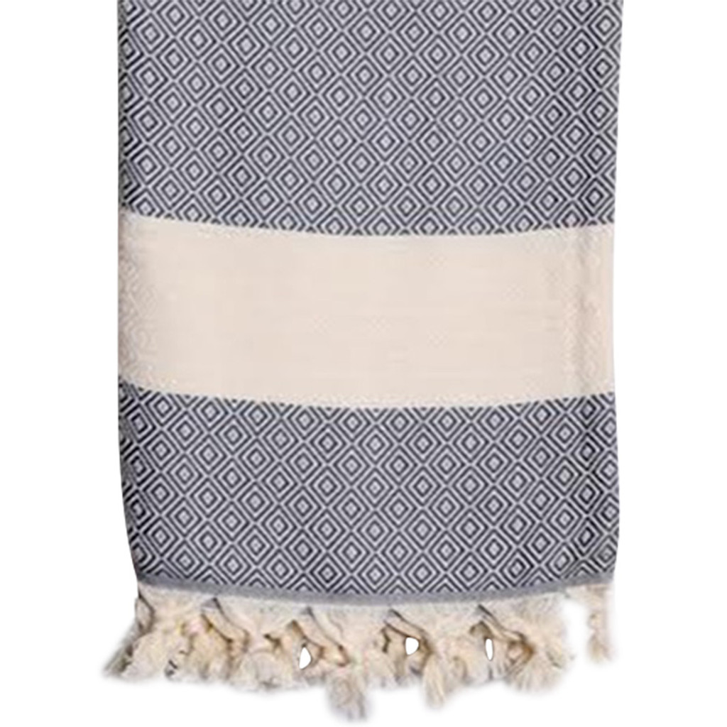 Turkish Hammam Towel, Dark Grey