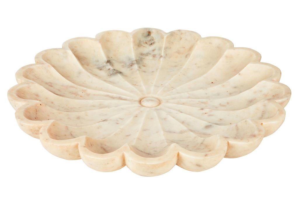 Indian White Marble Lotus