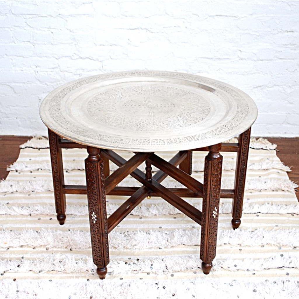 Syrian Coffee Table Set of Two Pieces
