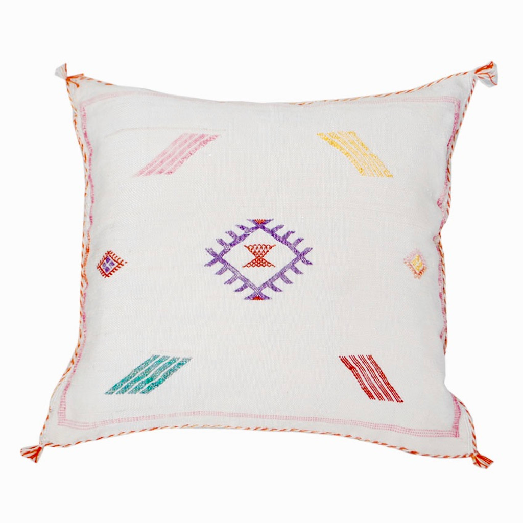 Moroccan Berber Sabra Throw Pillow, Cream