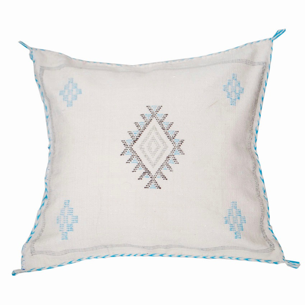 Moroccan Berber Sabra Throw Pillow, Cream 2