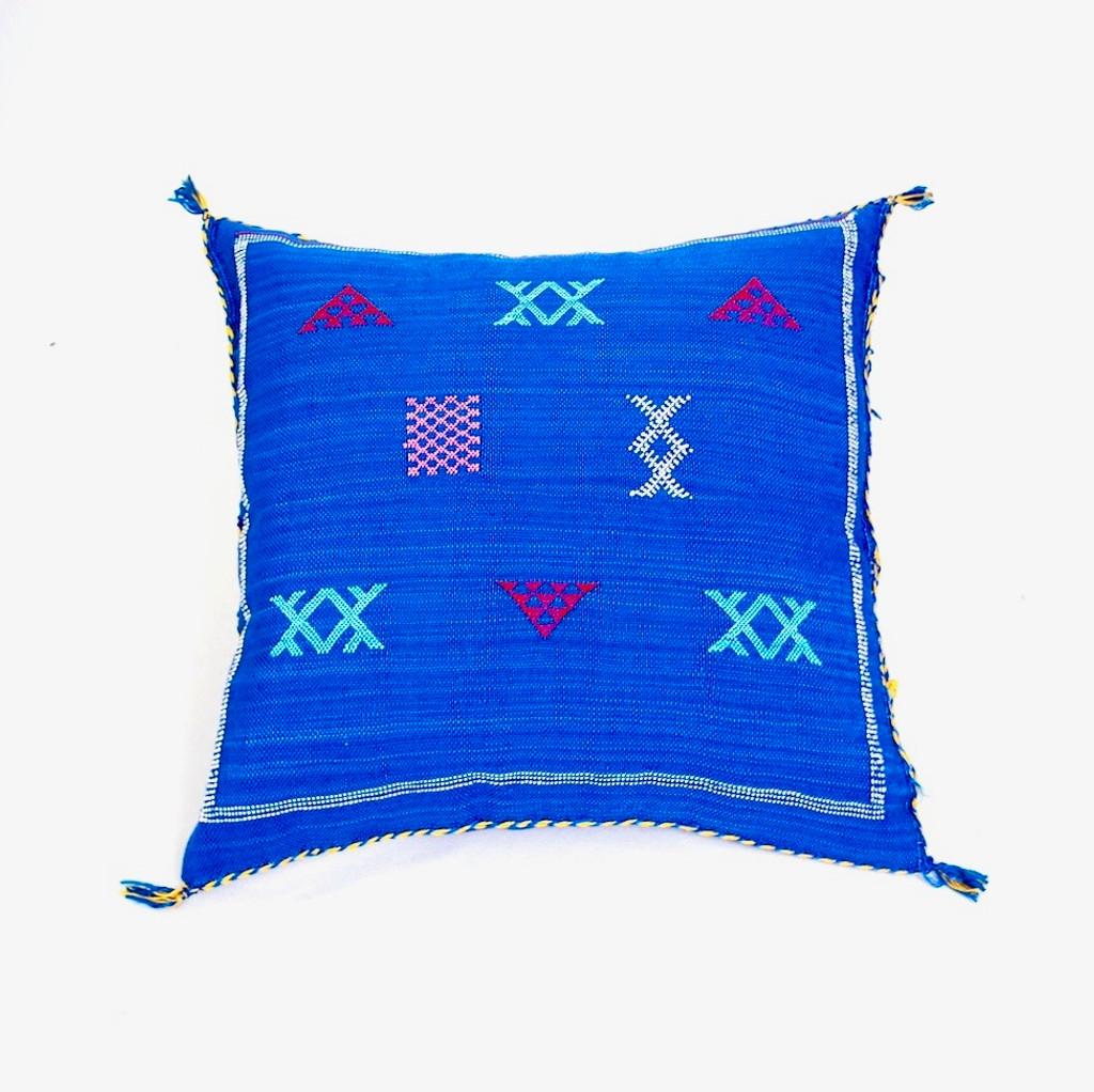 Sabra Throw Pillow, Cobalt  Blue 2