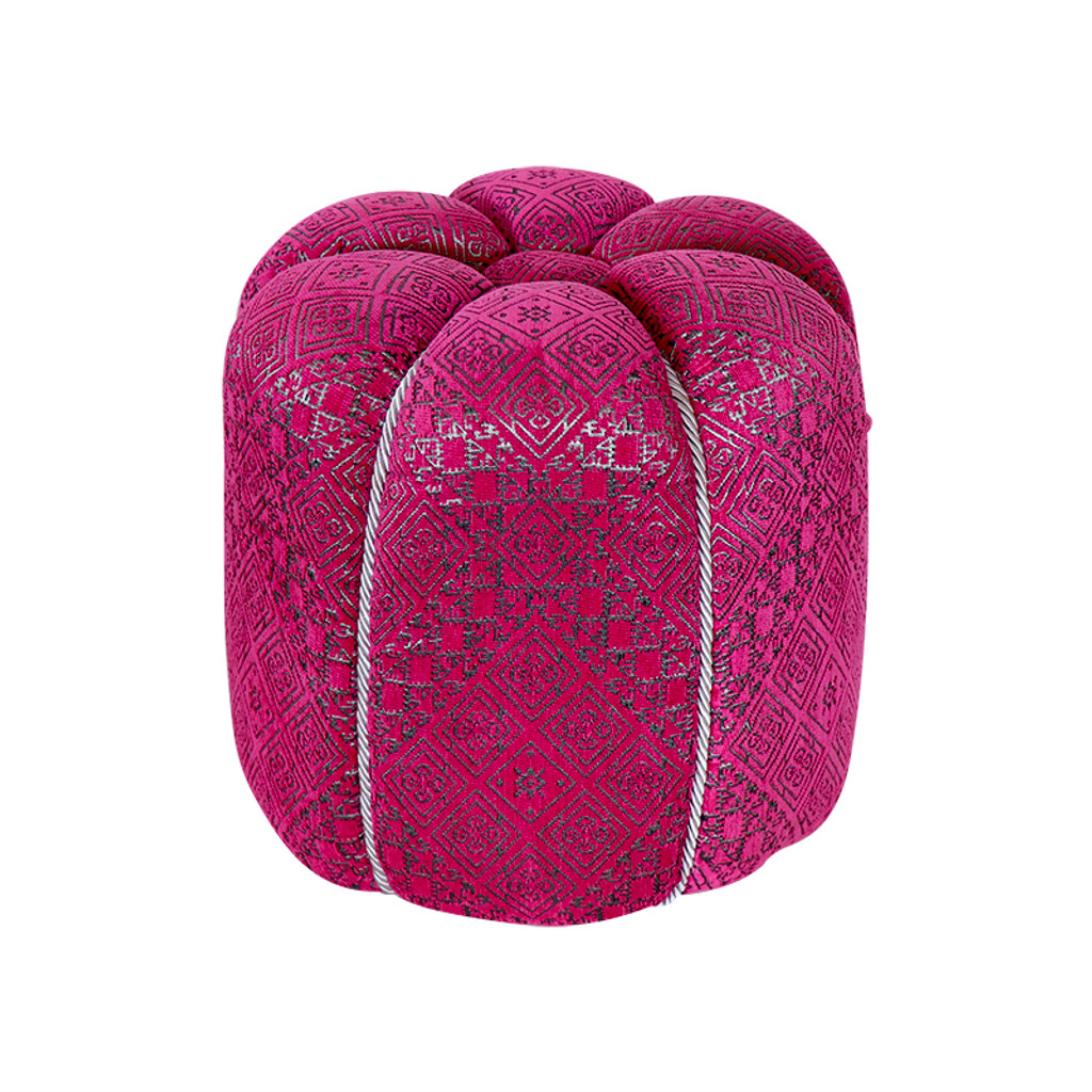 Moroccan fuschia  Fabric Pouf