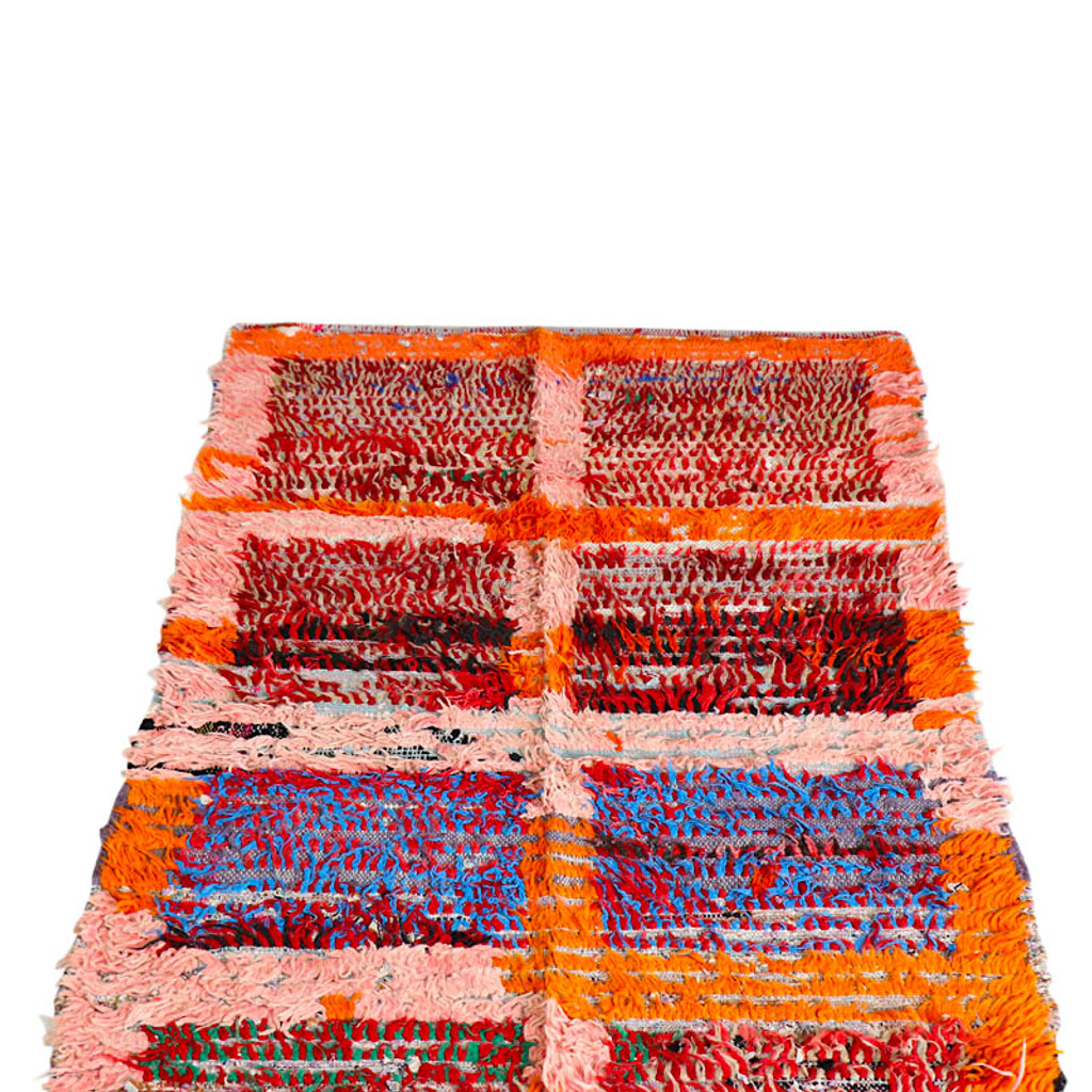 Boucherouite Rug , Orange
