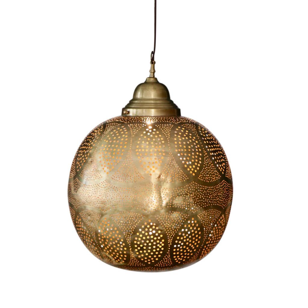 Moroccan Brass Hanging Lamp