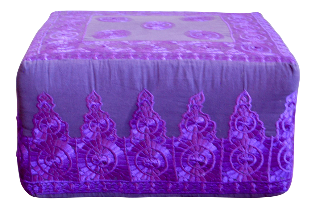 Rabati Silk Embroidery Ottoman