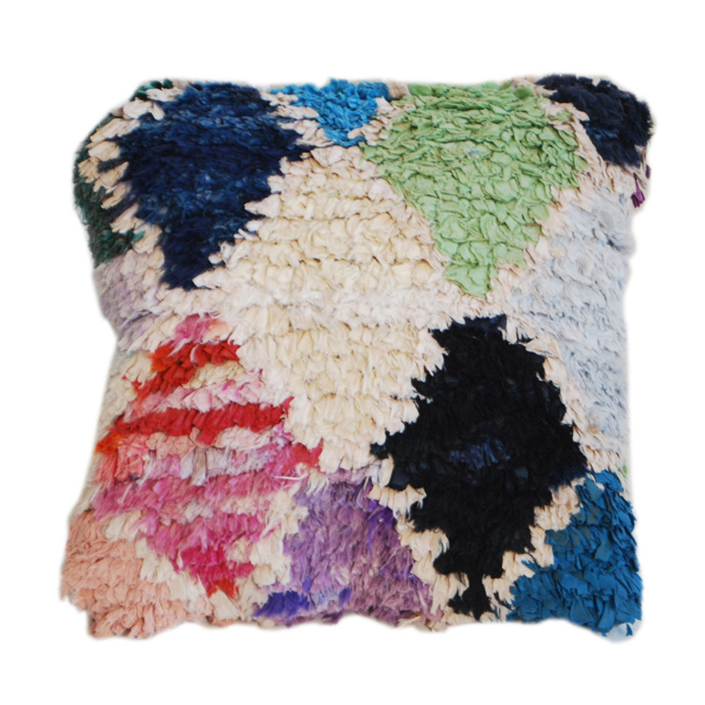 Boucherouite Rug Throw Pillow