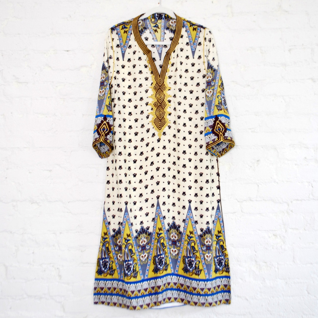 Moroccan Yellow Kaftan