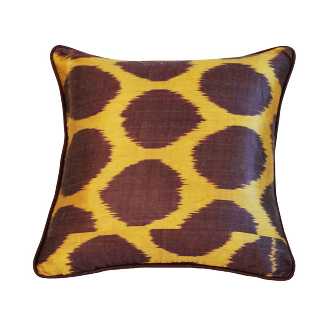 Ikat Silk Dots Pillow