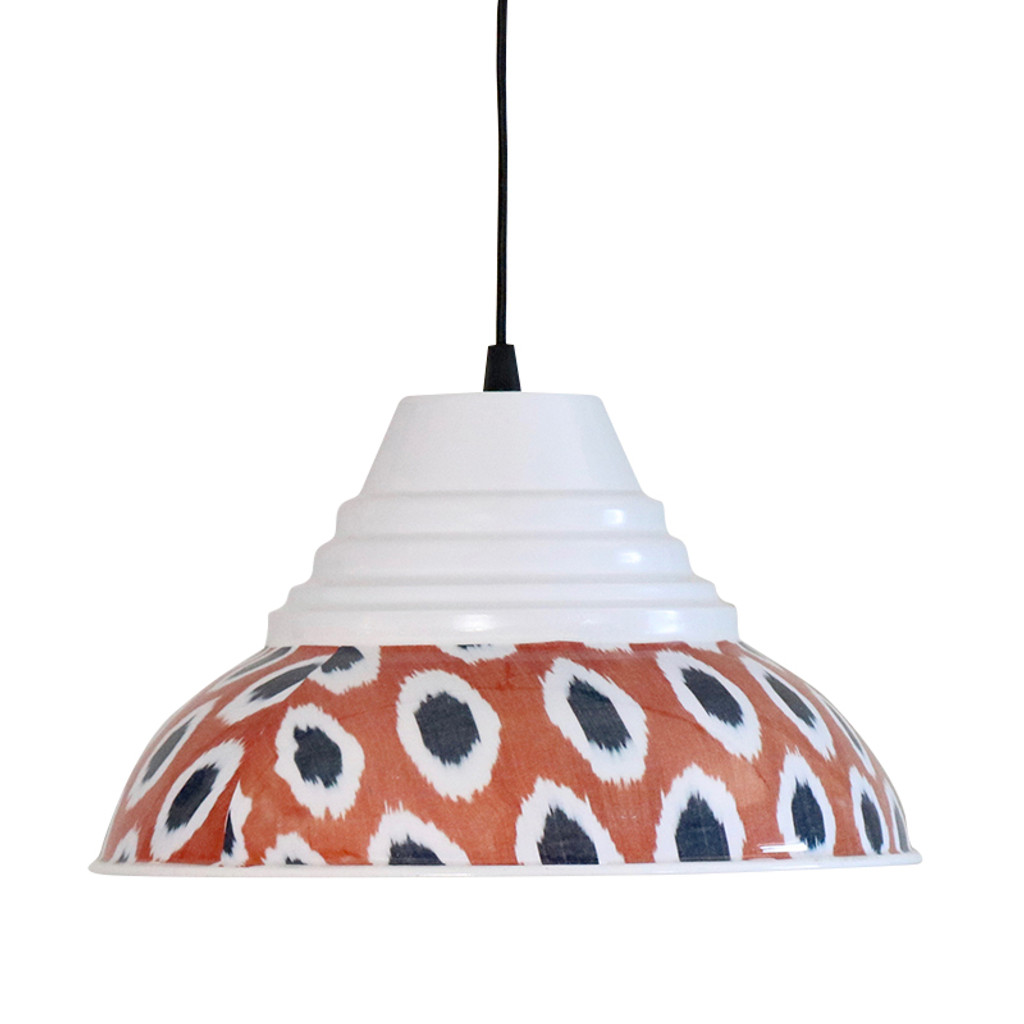 Ikat Pendant Lamp, Dots