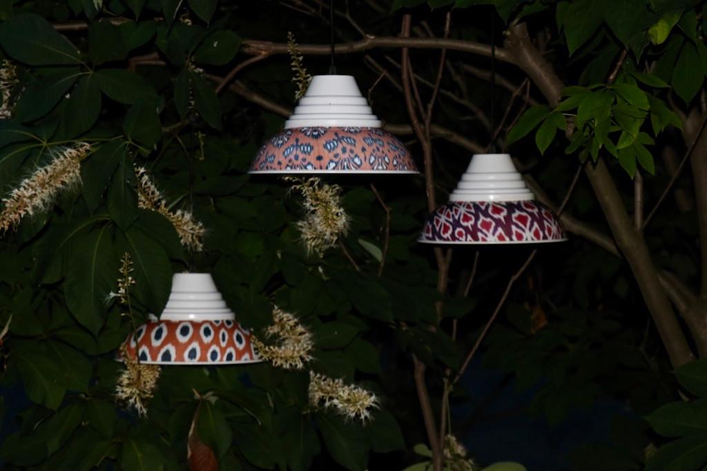 Ikat Pendant Lamp, Eggplant