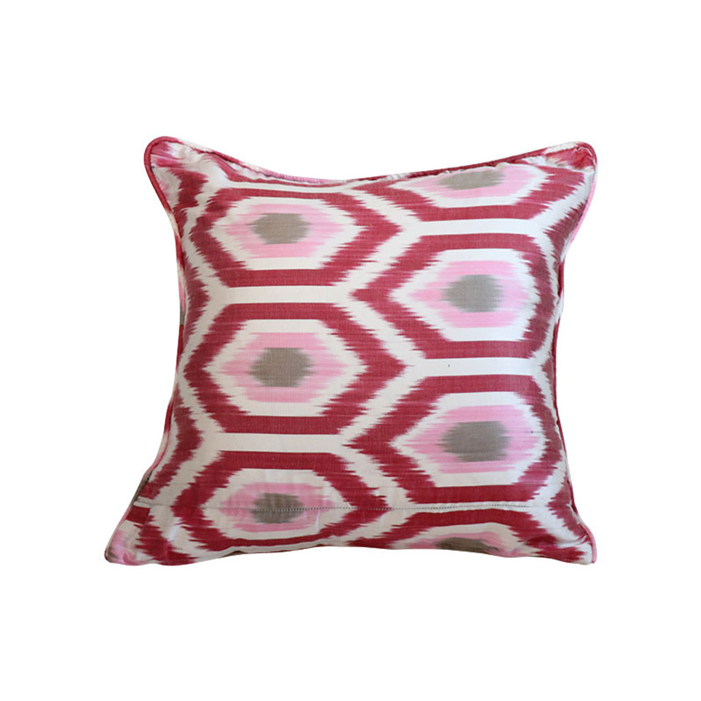 Ikat Pillow - Rosa