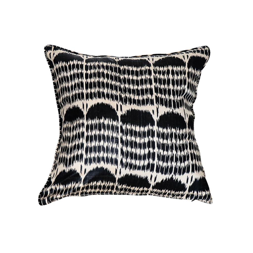 Ikat Pillow- Black Boukhara
