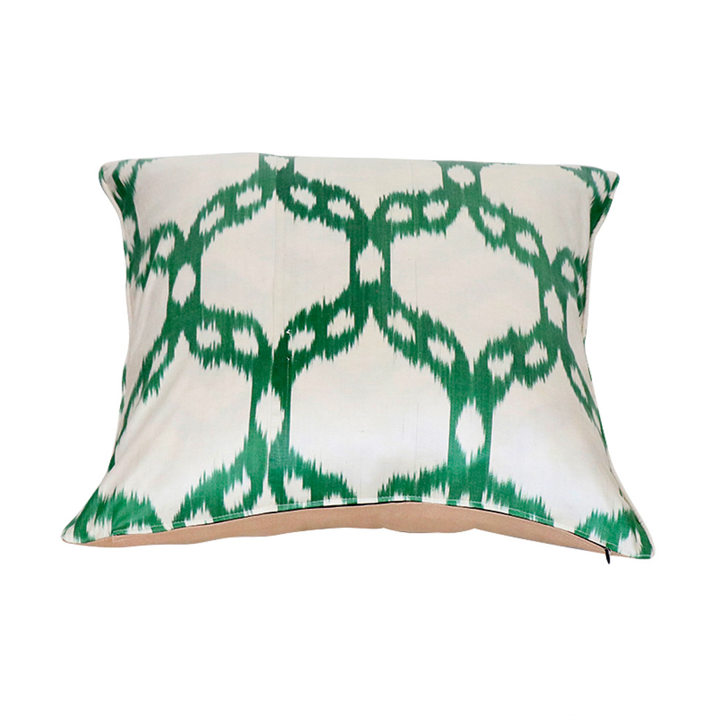 Ikat Pillow- Green Mosaic