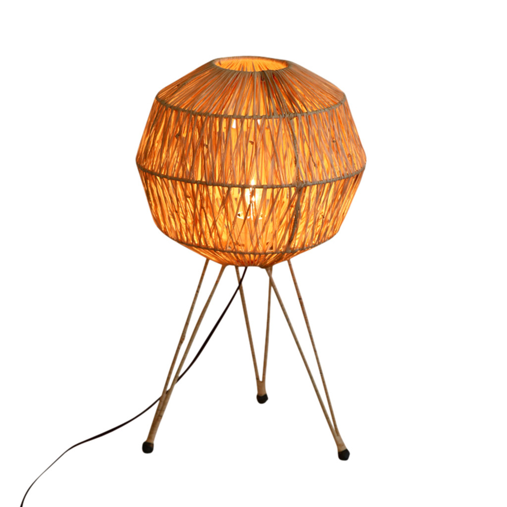 Rafia Table Lamp