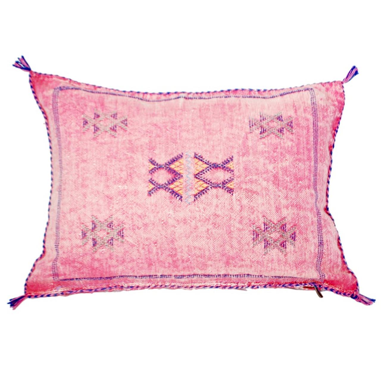 Moroccan Sabra Throw Pillows Dusty Pink Pillow Sheherazade Home