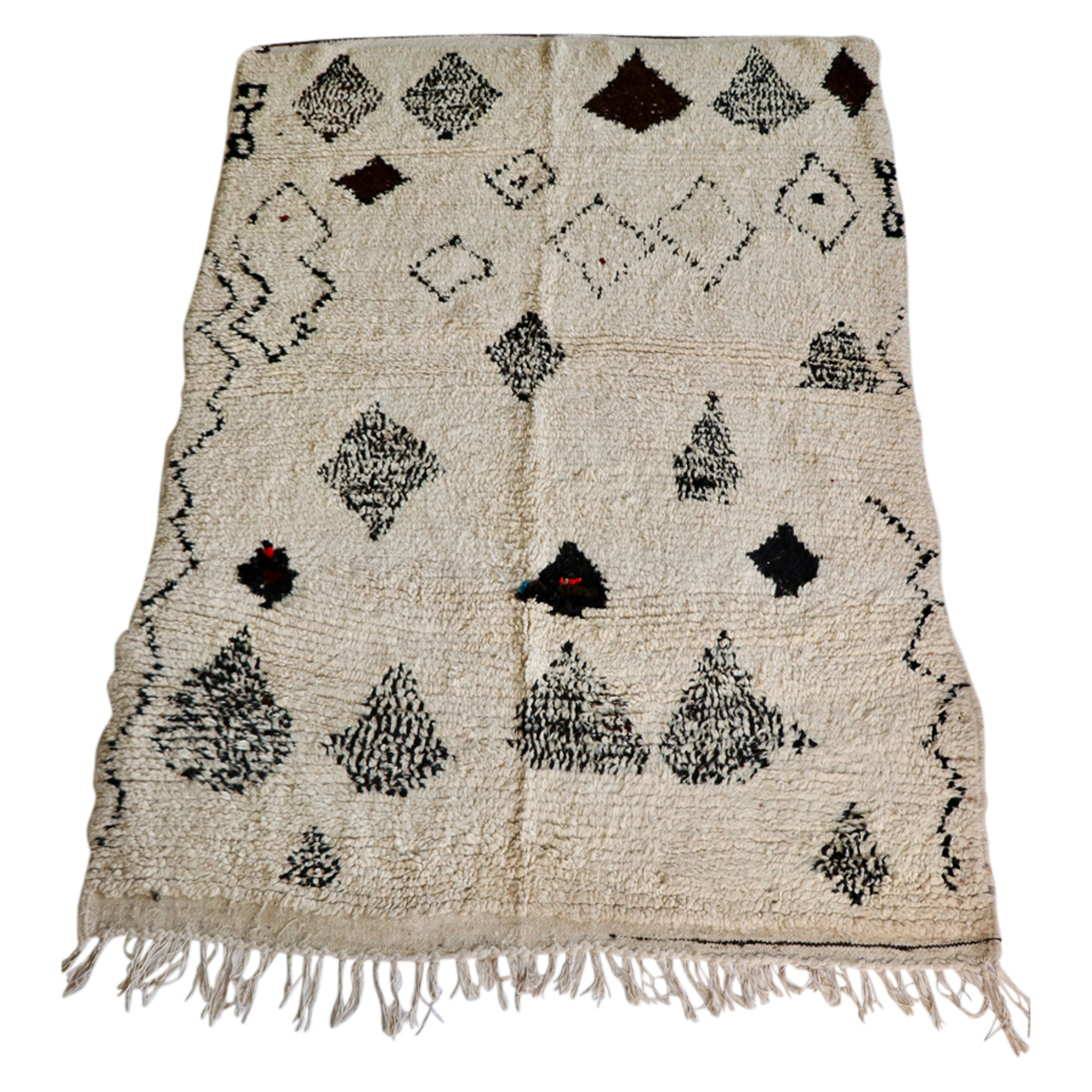 Fonkelnieuw Beni Ourian Rug | Hand Knotted Moroccan Rugs | Sheherazade® Home OB-74