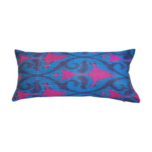 Ikat Pillow- Boukhara Teal & Fuschia