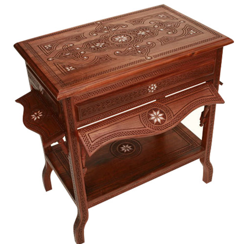 Syrian Hand Carved Accent Table