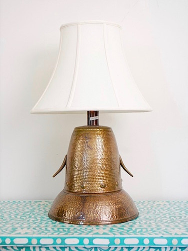 Moroccan Brass Table Lamp, Ben Saleh