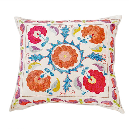 Suzani Pillow, Flora