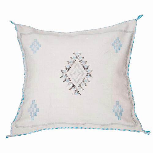 Moroccan Berber Sabra Throw Pillow, Cream 2
