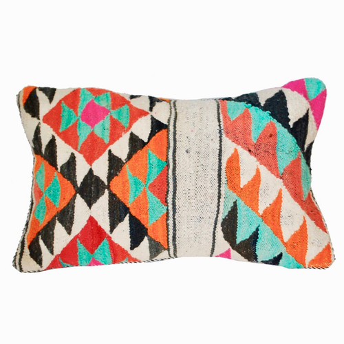 Moroccan Graphic Wool Throw Pillow