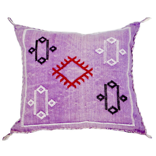Moroccan Berber Sabra Throw Pillow, Purple 3