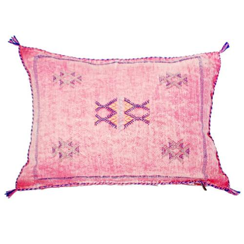 Moroccan Berber Sabra Throw Pillow, Dusty Pink