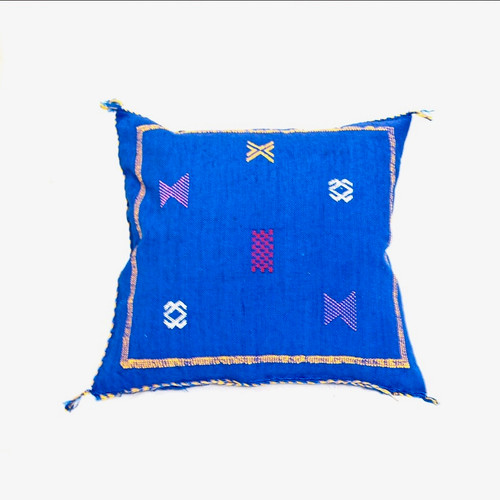 Sabra Throw Pillow, Cobalt  Blue 4
