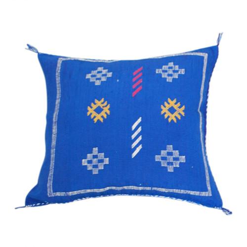 Sabra Throw Pillow, Cobalt  Blue 5