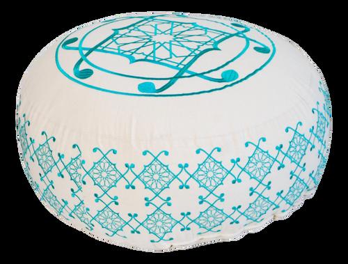 Selima Floor Pillow, Turquoise