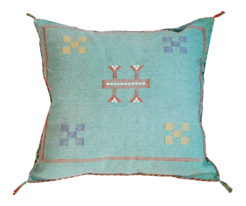 Moroccan Sabra Pillow, Turquoise