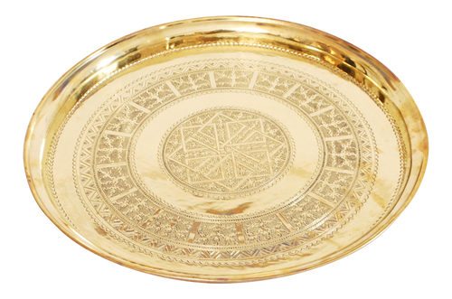 Moroccan Old Brass Tray.