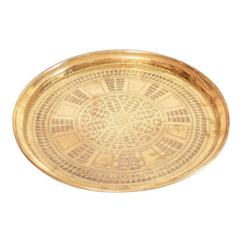 Moroccan Vintage Brass Tray