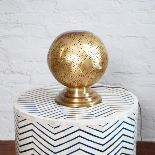 Moroccan Brass Table Lamp