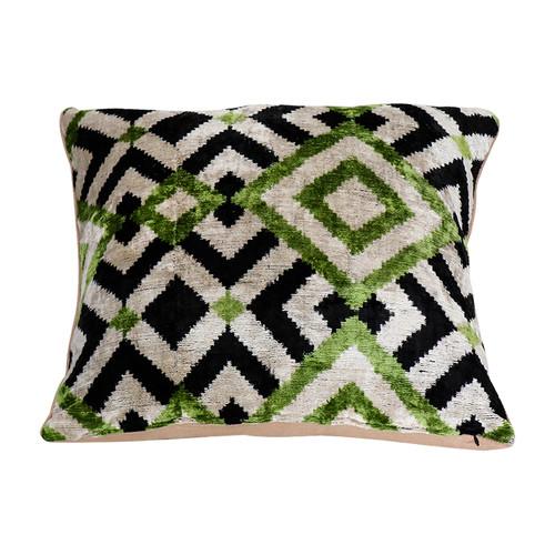 Velevt Ikat Pillow- Mosaic Design